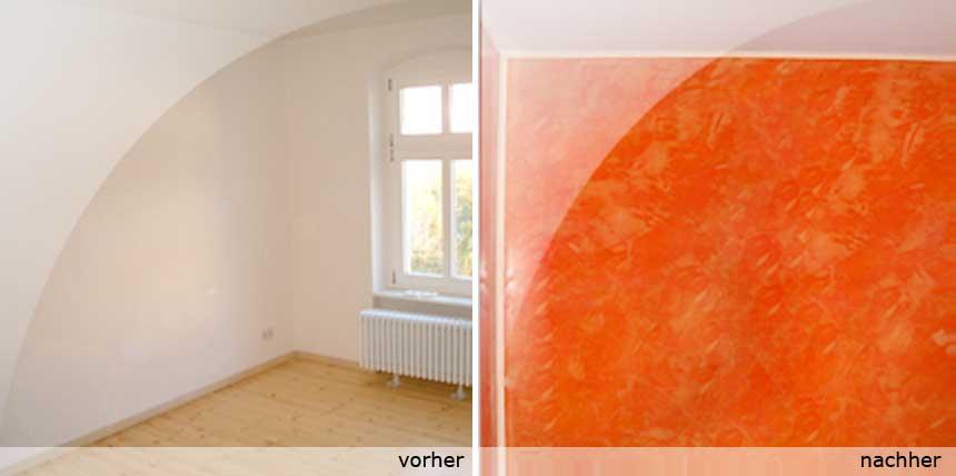 Wandgestaltung & Fußboden